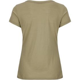 super.natural Print T-Shirt Femme, bamboo/killer khaki camper print